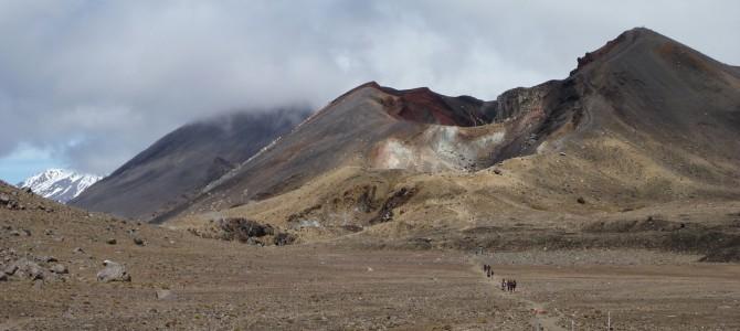 Taupo, Turangi und Wanderung durch den Vulkan